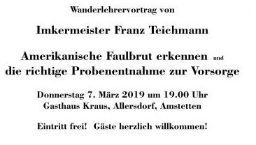 Wanderlehrervortrag 7. März 2019