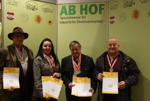 Erfolgreiche ImkerInnen bei der Ab Hof Messe in Wieselburg 2019