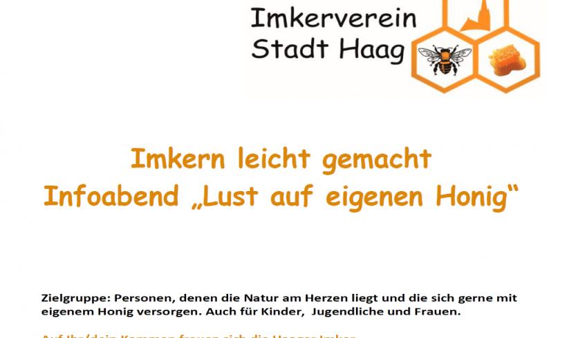 Imkerverein Stadt Haag – Infoabend 30.01.2020